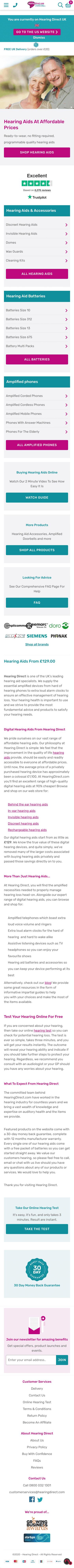 hearing direct Coupon