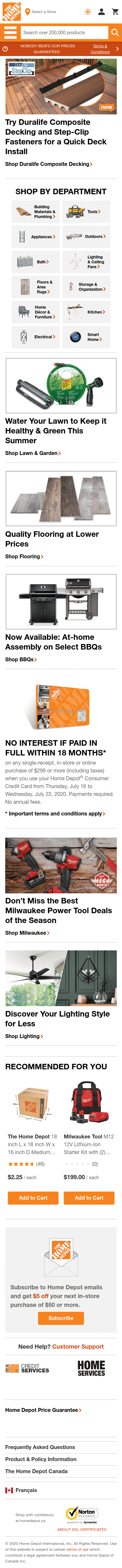 The Home Depot Canada Coupon