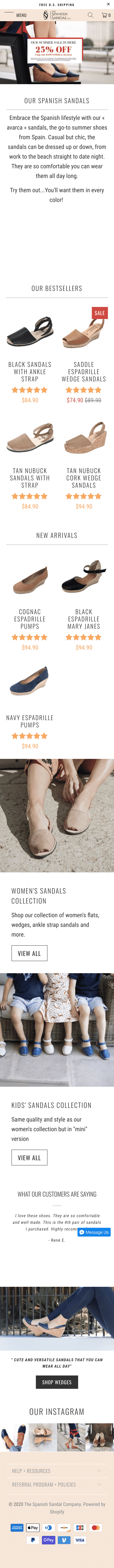 The Spanish Sandal Company Coupon